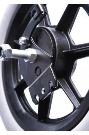 5300-2045 Bakhjul, 300 x45 mm höger sida med ankarplatta för bromskabel